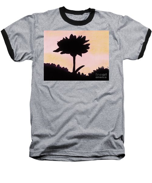 Baseball T-Shirt featuring the drawing Flower - Sunrise by D Hackett