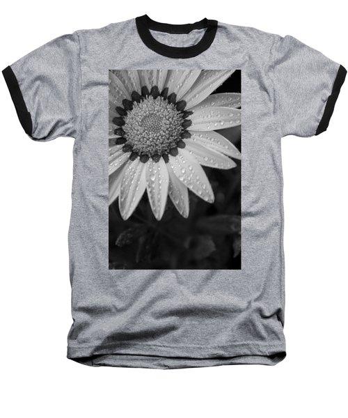 Flower Water Droplets Baseball T-Shirt