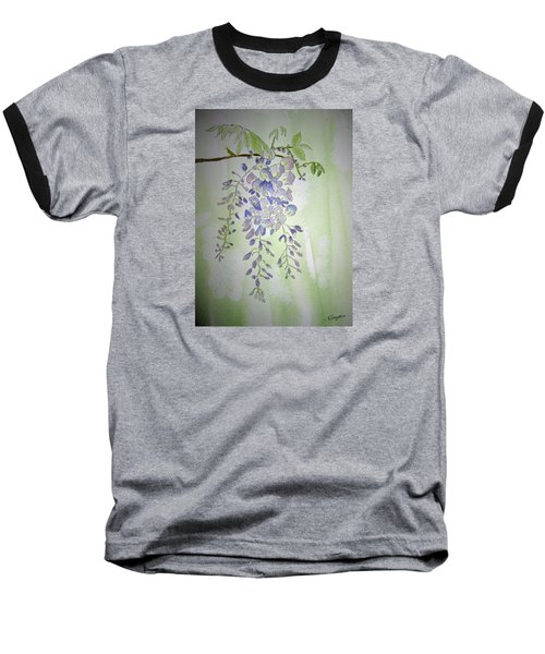 Flowering Wisteria Baseball T-Shirt
