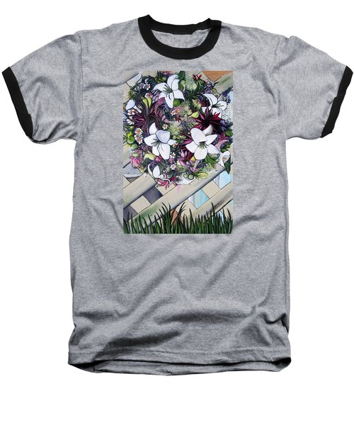 Floral Wreath Baseball T-Shirt