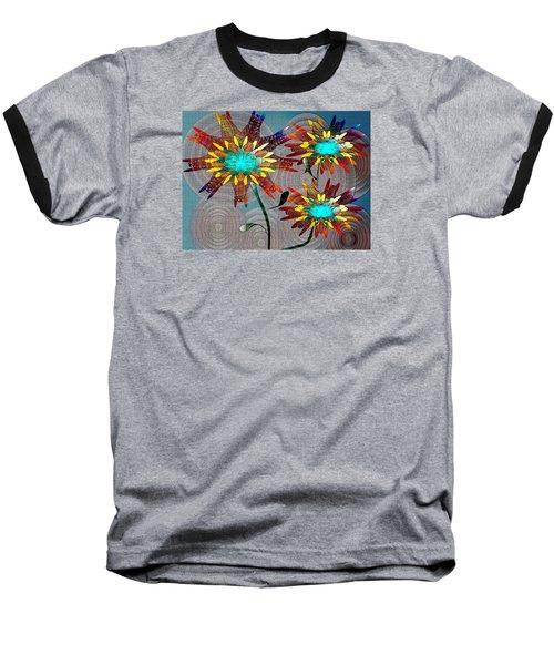 Baseball T-Shirt featuring the drawing Flowering Blooms by Iris Gelbart