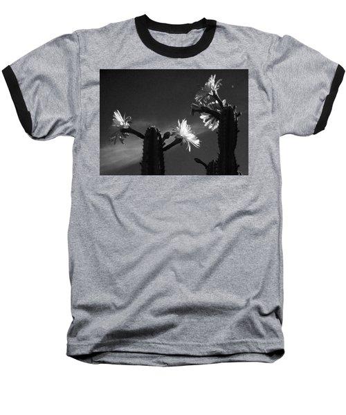Baseball T-Shirt featuring the photograph Flowering Cactus 4 Bw by Mariusz Kula