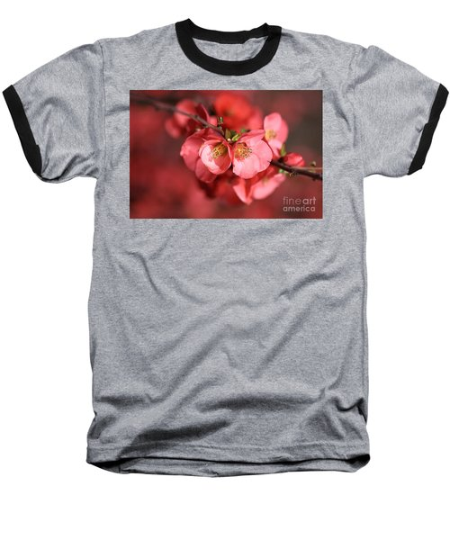 Flowering Quince Baseball T-Shirt