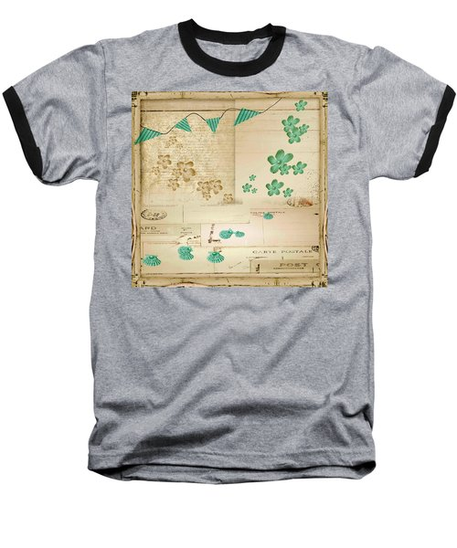 Flowers And Bunting Baseball T-Shirt