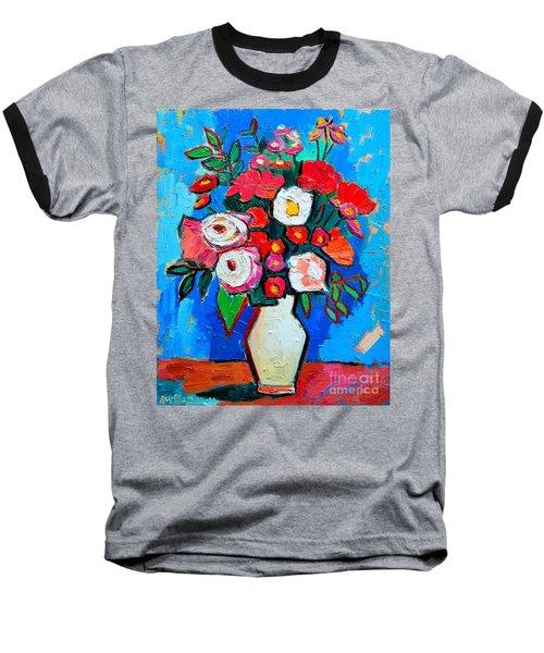 Flowers And Colors Baseball T-Shirt by Ana Maria Edulescu