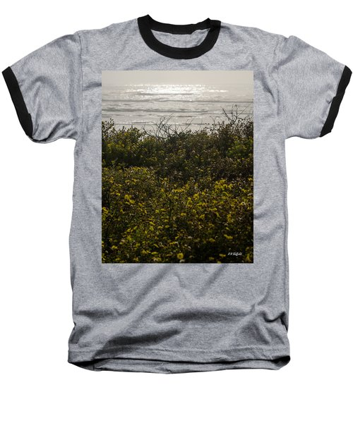 Flowers And The Sea Baseball T-Shirt