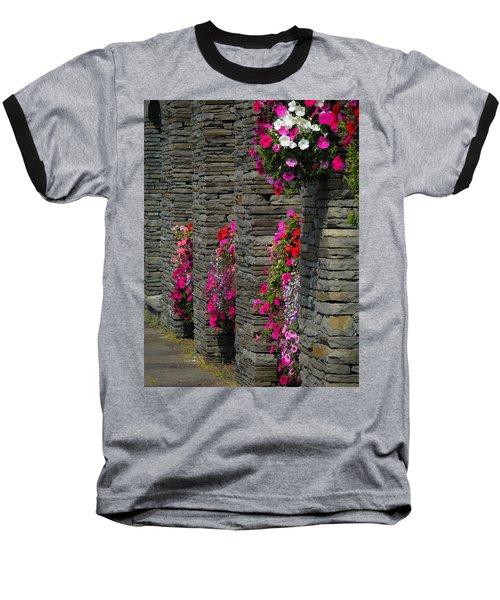 Flowers At Liscannor Rock Shop Baseball T-Shirt