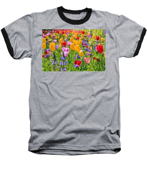 Flowers Everywhere Baseball T-Shirt
