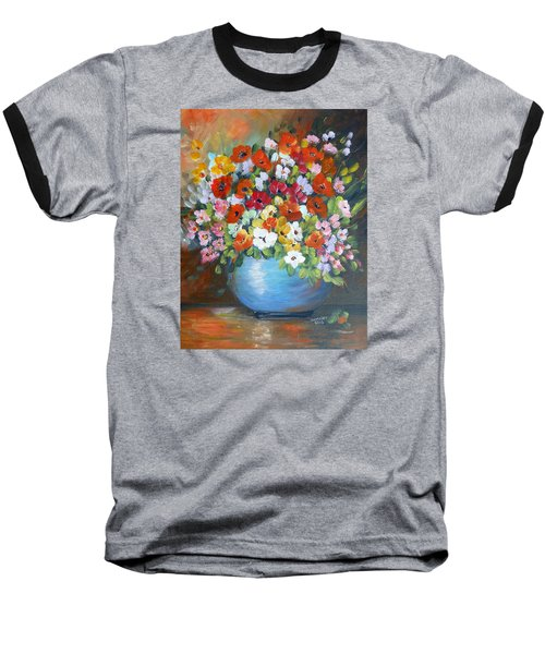 Flowers For A Friend Baseball T-Shirt by Dorothy Maier