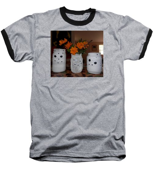 Halloween Flowers For Mummy Baseball T-Shirt by Belinda Lee