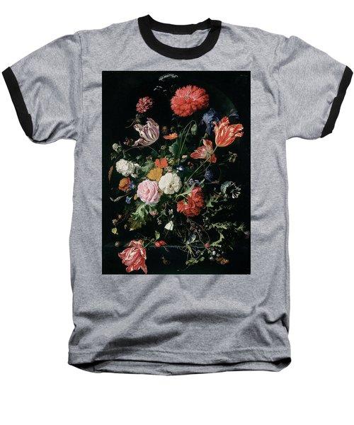 Flowers In A Glass Vase, Circa 1660 Baseball T-Shirt