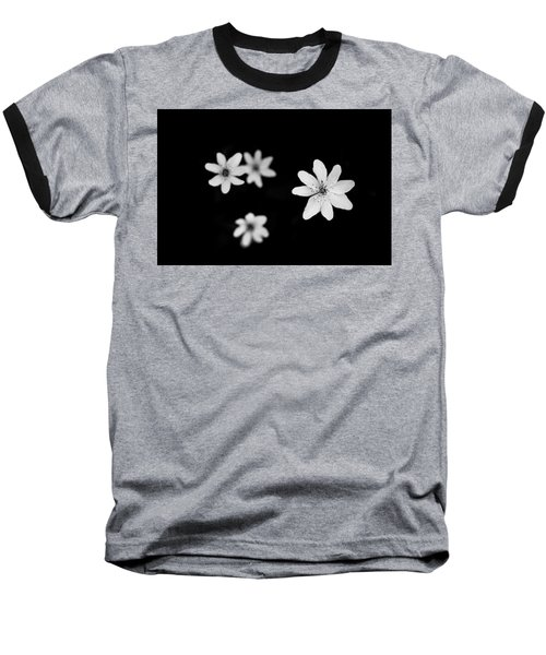 Flowers In Black Baseball T-Shirt
