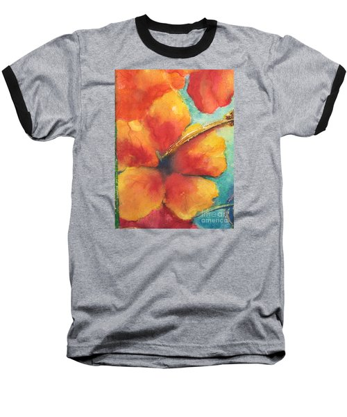 Baseball T-Shirt featuring the painting Flowers In Bloom by Chrisann Ellis