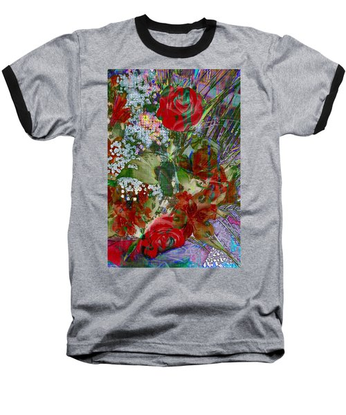 Baseball T-Shirt featuring the digital art Flowers In Bloom by Liane Wright