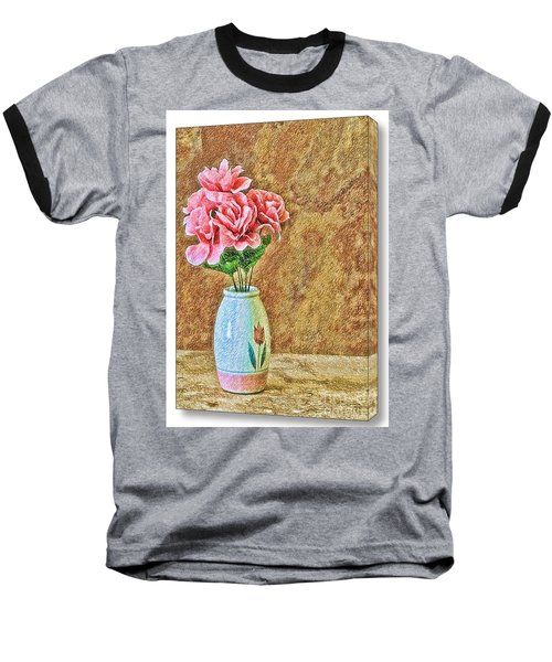 Flowers In Crayon- No Longer Available Baseball T-Shirt