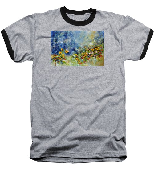 Flowers In The Fog Baseball T-Shirt by Craig T Burgwardt