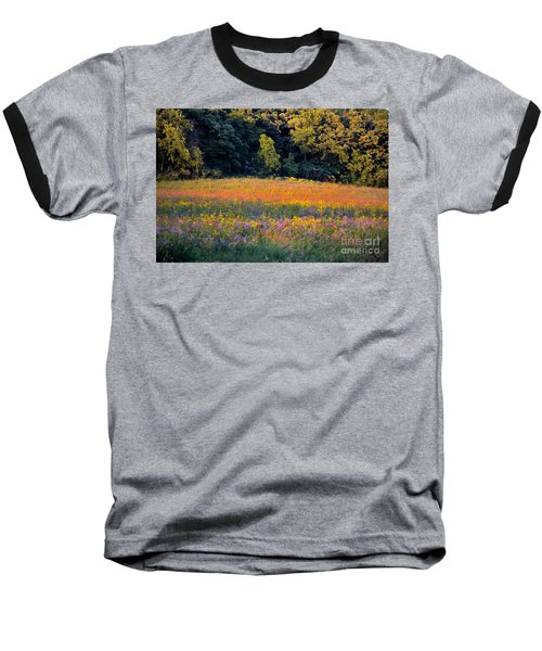 Flowers In The Meadow Baseball T-Shirt by Deb Halloran