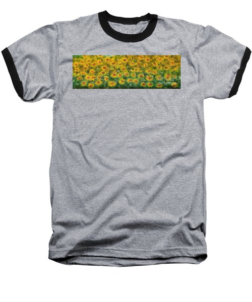 Flowers Baseball T-Shirt by Loredana Messina