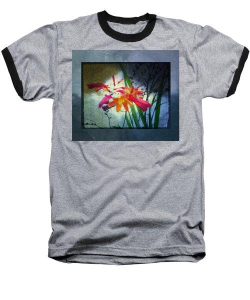 Baseball T-Shirt featuring the digital art Flowers On Parchment by Absinthe Art By Michelle LeAnn Scott