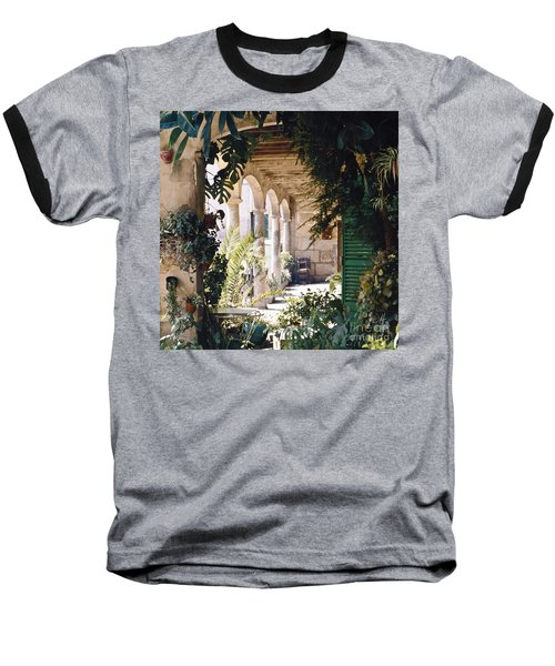 Flowery Majorquin  Patio In Valdemosa Baseball T-Shirt