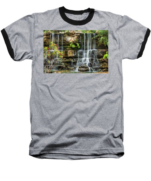 Flowing Falls Baseball T-Shirt by Dave Files