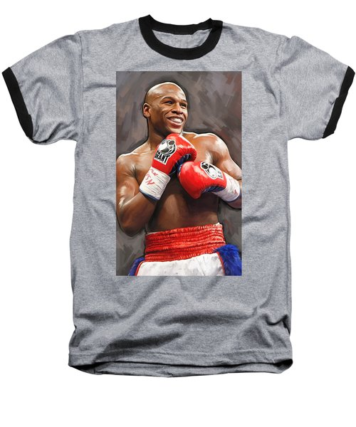 Floyd Mayweather Artwork Baseball T-Shirt
