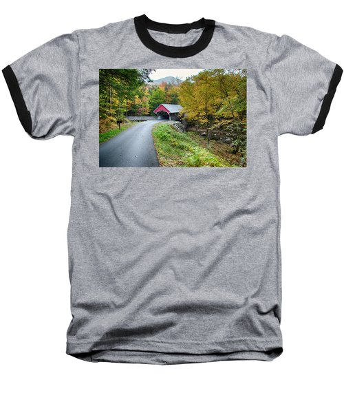 Flume Gorge Covered Bridge Baseball T-Shirt