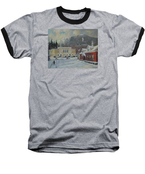 Flurries Over Mount Greylock Baseball T-Shirt