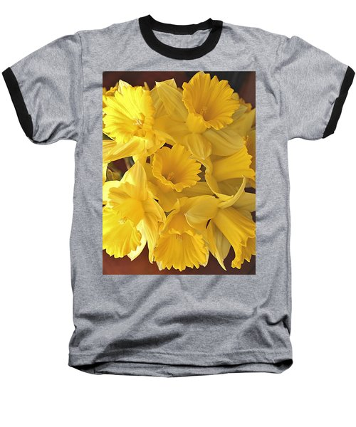 Baseball T-Shirt featuring the photograph Flurry Of Daffodils by Diane Alexander