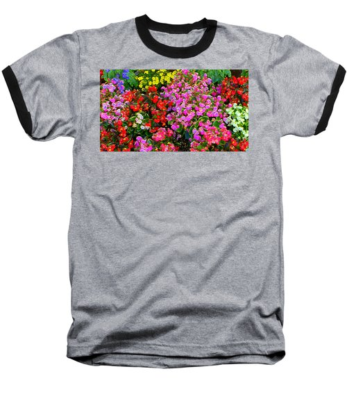 Flwrs Test 1 Baseball T-Shirt by Terence Morrissey