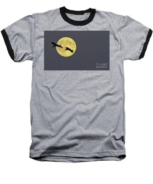 Moonlight Flight Baseball T-Shirt