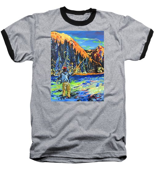 Fly Fisherman Baseball T-Shirt