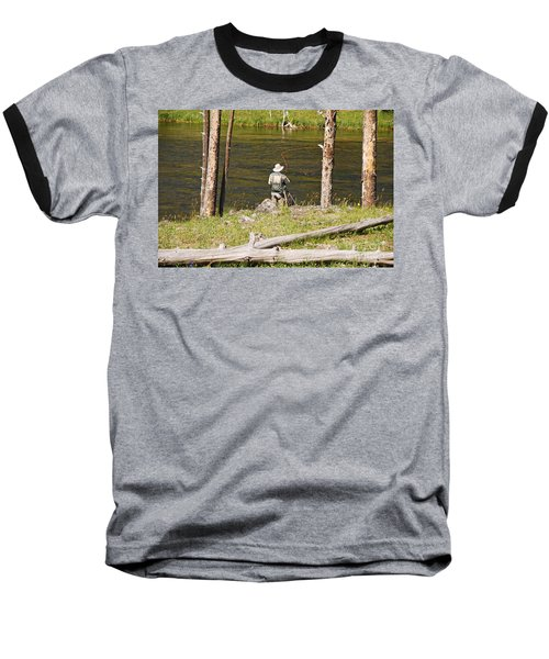 Baseball T-Shirt featuring the photograph Fly Fishing by Mary Carol Story