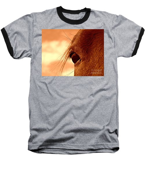 Fly In The Eye Baseball T-Shirt by Clare Bevan