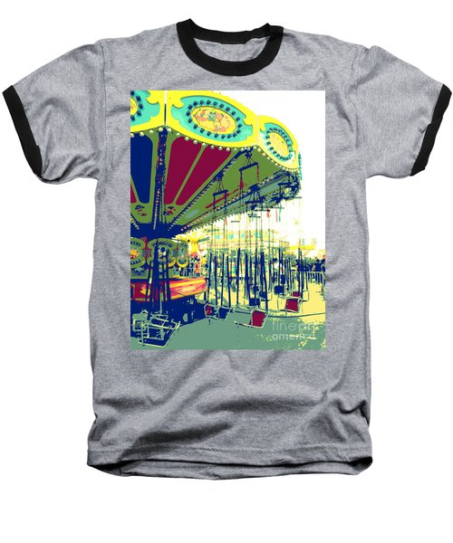 Baseball T-Shirt featuring the digital art Flying Chairs by Valerie Reeves