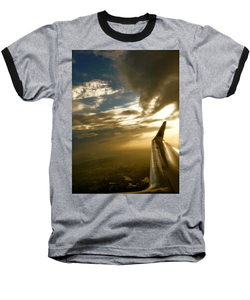 Baseball T-Shirt featuring the photograph Flying Clouds By David Pucciarelli by Iconic Images Art Gallery David Pucciarelli