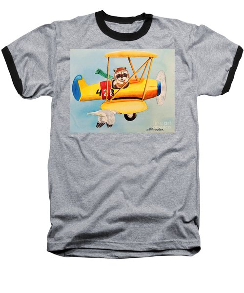 Flying Friends Baseball T-Shirt