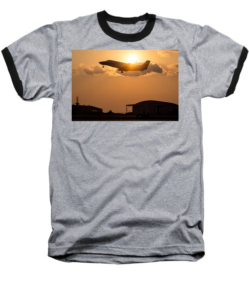 Flying Home Baseball T-Shirt by Paul Job