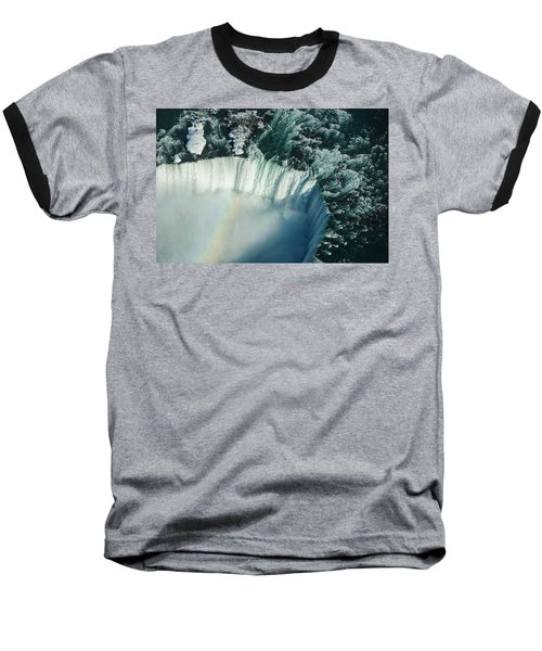 Flying Over Icy Niagara Falls Baseball T-Shirt