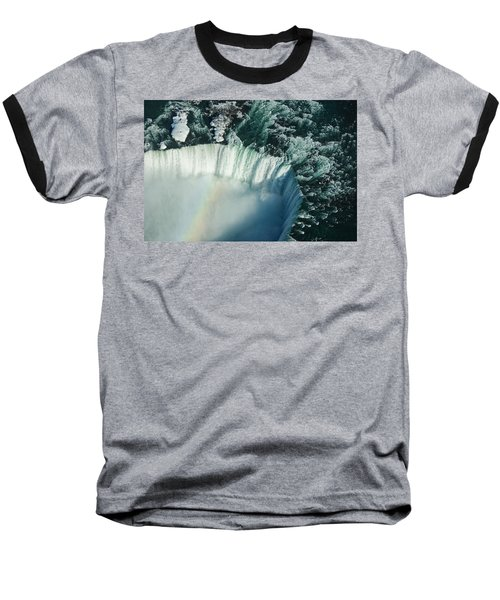 Flying Over Icy Niagara Falls Baseball T-Shirt