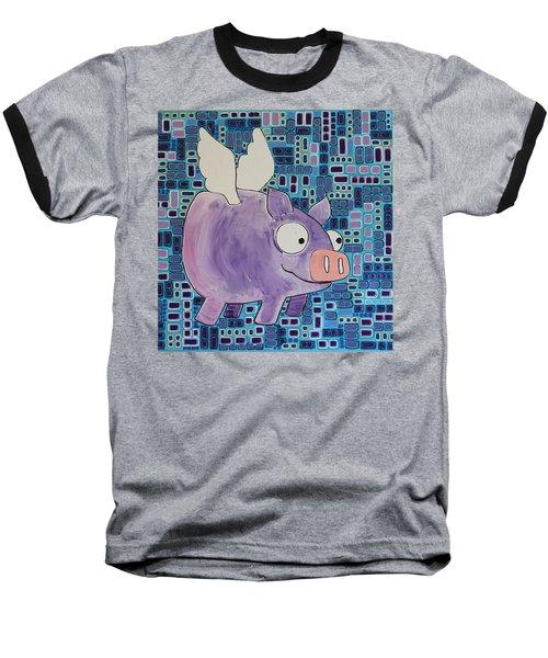 Flying Pig Baseball T-Shirt
