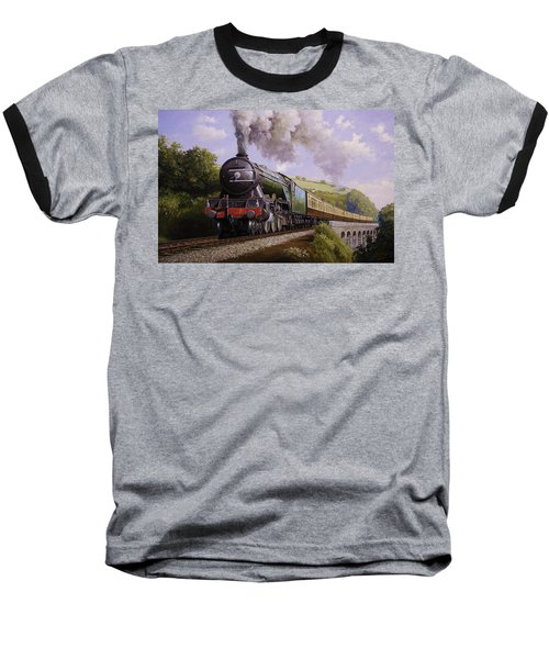 Flying Scotsman On Broadsands Viaduct. Baseball T-Shirt