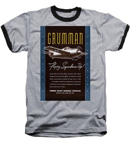 Grumman Flying Squadrons Up Baseball T-Shirt