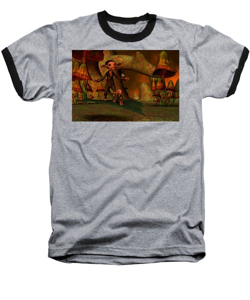 Baseball T-Shirt featuring the digital art Flying Through A Wonderland by Gabiw Art