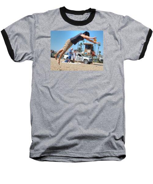 Flying Tourist Baseball T-Shirt