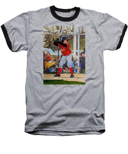 Focus Baseball T-Shirt by Raymond Perez