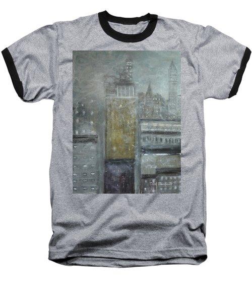 Fog Covered City Baseball T-Shirt