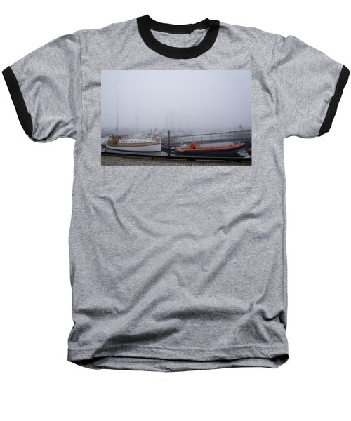 Fog In Marina IIi Baseball T-Shirt