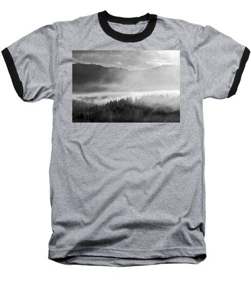 Fog In The Valley Baseball T-Shirt