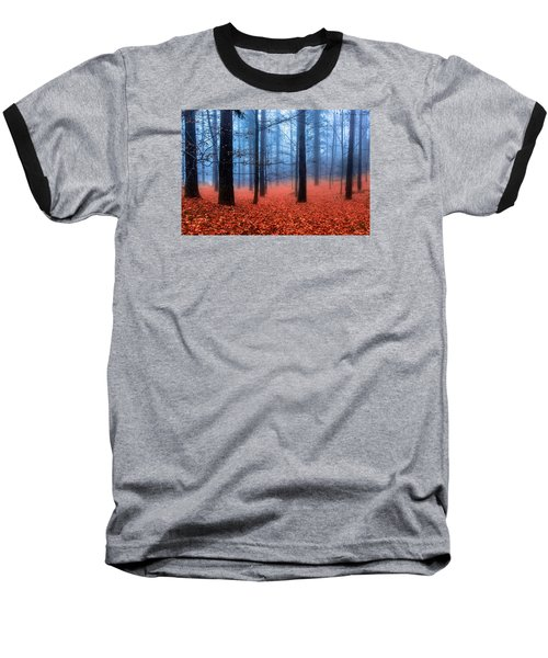 Fog On Leaves Baseball T-Shirt